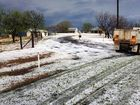 "A FARMER described the extraordinary hail storm that pelted the Lockyer Valley as a ""river of ice from the sky""."