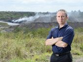 A FIRE burning beneath tonnes of rubbish containing toxic chemicals has residents of an Ipswich suburb concerned about the quality of air they are breathing.