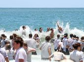 HUNDREDS of socks, ties and shirts from Year 12 students' celebrations on Mooloolaba Beach have begun to wash up.