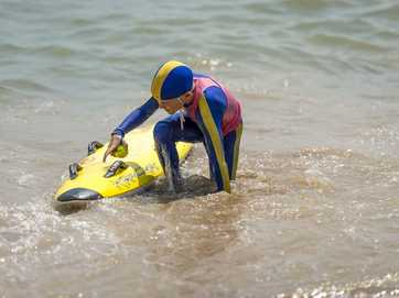 Nippers got some practice in at Tannum Sands Beach on November 17, 2013.
