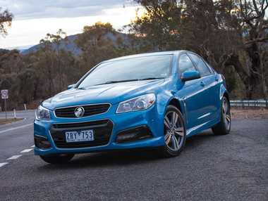 The home-grown Holden VF Commodore.
