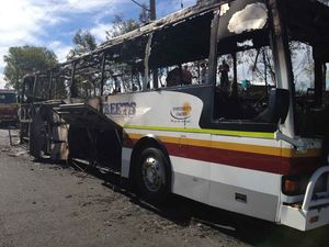 Bus destroyed in fire