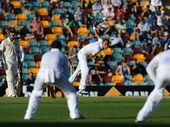 MITCHELL Johnson played a straight bat when he was asked if Stuart Broad's bowling heroics on day one had been inspired by the boos from the Gabba crowd.
