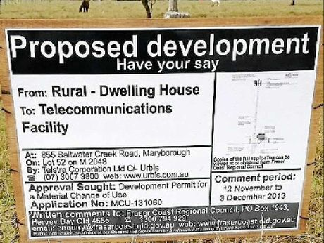 The proposed site of a phone tower near St Helens State School in Maryborough.
