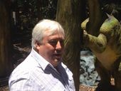 CLIVE Palmer has given a sneak peek inside his soon-to-open dinosaur park.