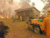 PROTECTING a property from a bushfire is no easy task and could be a fatal mistake once avenues of escape have been cut.