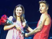 POP sensation Justin Bieber gave an Ipswich girl a night to remember during his premiere performance in Australia - giving the teen her first bouquet of flowers.