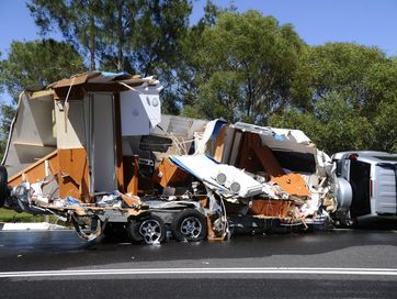 The Pacific Hwy was closed in both directions at Halfway Creek following a three vehicle crash.