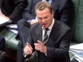 Leader of the House Christopher Pyne during House of Representatives question time at Parliament House Canberra, Tuesday, Nov. 19, 2013.