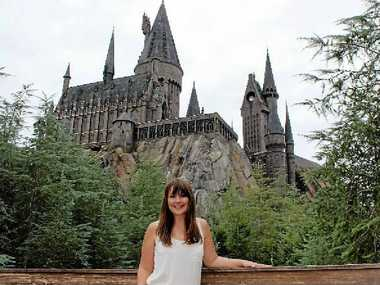 MUGGLE MAGIC: Vanessa checks out the Hogwarts Castle.
