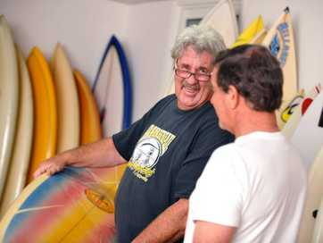 Surf legends Gary O'Donnell and Laurie Jarman.