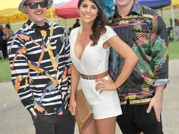 SOCIALS: People enjoying the Gladstone Turf Club's Rosella Park Race Day on November 30, 2013.