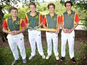 SELECTED: L-R, Dane Pratt (captain), Jordan Sly, Cody McKinnon and Tom Carlton, of Woodlawn Cricket Team.