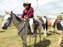 A PAIR of Glenugie land- owners rode horses to Parliament House in Canberra yesterday to protest Metgasco coal seam gas operations near their property.