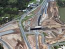THE QT has the first shots from the air showing the extent of the Blacksoil Interchange upgrade and the progress of the project.