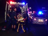"POLICE yesterday described the scene of an alleged machete attack in a Rockhampton suburb as ""chaos""."