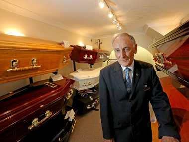 Peter Walsh from Twin Towns Funerals marks a century of service for the businesses.