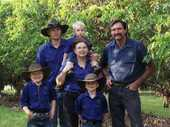 LYCHEE PRODUCERS: The Pool family, with John (right) and Kerry (centre) and the rest of the family on their lychee farm in Tiaro.