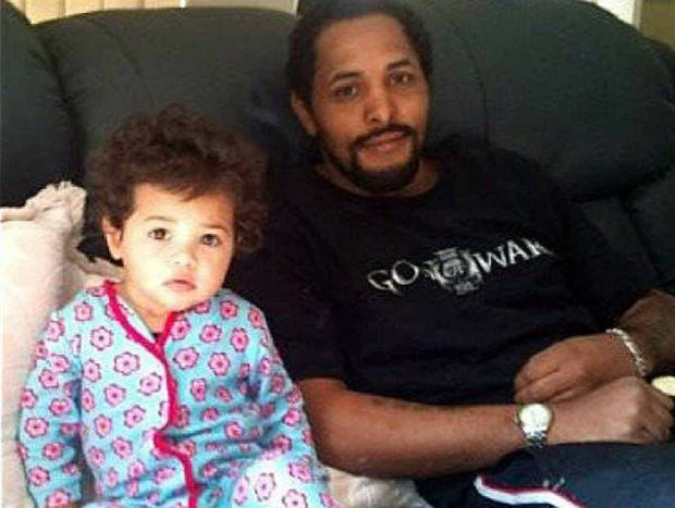 Tanilla Warrick-Deaves pictured with her father Adrian Warrick. Mr Warrick travelled from his Ballina home to Sydney with his partner Brook Bowen for the start of Warren Ross's sentencing hearing for the murder of his daughter.