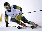 Marty Mayberry in action for Australia on the snow.