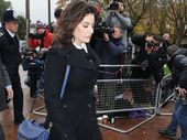 Nigella Lawson walking to court.