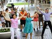 IPSWICH Mall came alive on Thursday with a crowd of people engaged in a Flashmob dance.