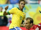 DANGER MAN: Brazil's Neymar could be one of the players the Socceroos could come up against at next year's World Cup finals.