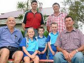 FAMILY AFFAIR: Tony, Shane, Keith, Hannah, Josh, Lachlan and Steve are four generations of the Lehmann family who have attended Prenzlau State School.
