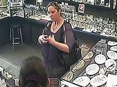 "A THIEF who dashed out of a New Zealand jewellery store wearing a $13,000 sapphire ring yelled ""thank you very much"" to staff as she ran to her getaway car."