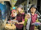 A COLOURFUL scene of marine life has been created to greet visitors to the Tanyalla Conference Centre, thanks to budding artists from Toolooa State High School.