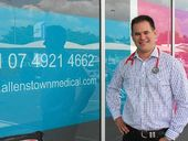Dr Geoff Cashion is back where his working life started, outside his soon-to-open Allenstown Medical Clinic at Rockhampton's Allenstown Square.