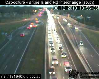Image taken from the Caboolture-Bribie Island Rd interchange traffic camera (looking southbound).