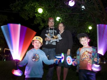 Thousands admire Toowoomba's Christmas Wonderland on opening night as the lights brighten Queens Park for young and old. The display continues each night until Christmas.