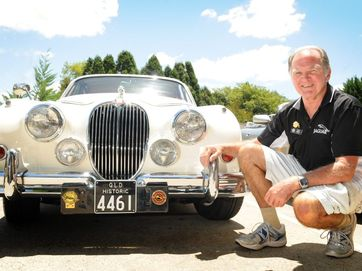 Members of the Jaguar Drivers' Club Queensland gather to display their vehicles at Regent's on the Lake.