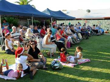 Residents and guests at the RSL Fairways bush Christmas party.