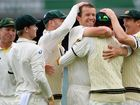 AUSTRALIA has won the second Ashes Test against England at Adelaide Oval with the tourists all out for 312.