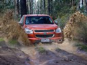 The Holden Colorado toughs it out in the Aussie bush.
