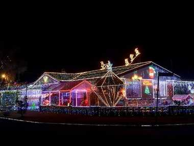 This Tugun home, at 7 Coolara St, has won the Gold Coast City Council's Christmas lights competition. It was named residential Robina Town Centre Grand Champion.