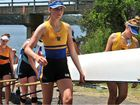 Rowers start to queue up at the Queensland State Championships held at the Bucca Rowing Course.