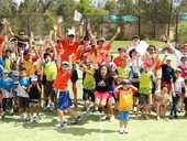 TOP YEAR: The energetic group of Aspire tennis players enjoy their fun day at Brookwater.