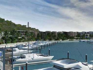 Indicative Marina perspective of the proposed Shute Harbour.