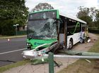 UPDATE: Eight people have luckily escaped a bus crash at Morayfield this afternoon with minor injuries.