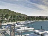 NEW VISION: An artist's rendering of the proposed Shute Harbour Marina Resort.