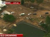 The private dam in the Lockyer Valley where a six-year-old boy has drowned.