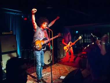 POP-UP PERFORMANCE: Wolfmother were in fine form during a surprise gig at the Hoey Moey on Thursday night. Photo: Michael Kuca