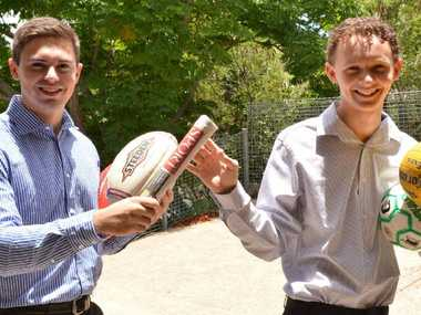 Gympie Times sport reporter Drew Timbs is off to uni and will soon hand the baton over to 2013 graduate Tim Vetter, who will fill the role while he takes a gap year after working hard for his OP score.