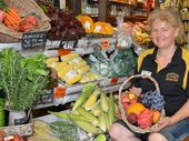Farmer and Sun greengrocer owner Trena Waugh believes the freshest fruit and vegetables are sourced locally.