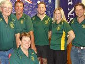 BRING IT ON: Wattles Rugby League Football Club executive committee members Don Scheid, Barry Glass, Tim Hentschel, Jaimie McMillan, Aaron Scheid and Joanne Frizzell (seated) are already tackling preparations for the 2014 season.