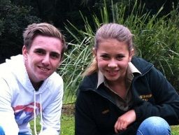 Bailey 'Bazz' Lancaster with Bindi Irwin.