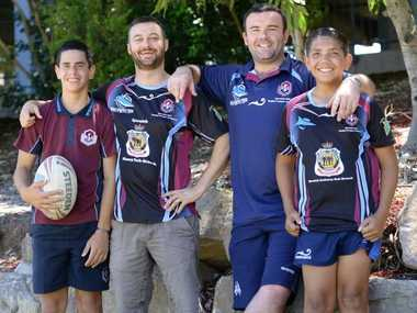 Rugby League training program at Ipswich State High School with head coach Lee Addison.